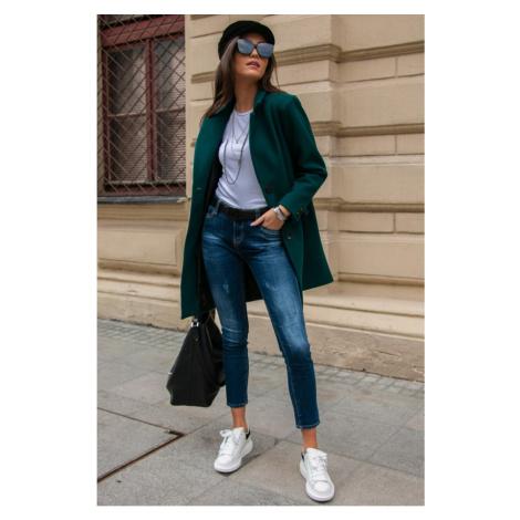 Jednořadý přiléhavý kabát Roco Fashion