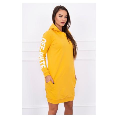 Dress Off White mustard Kesi