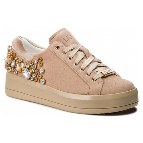 LIU JO Kim 08-lace up cow suede natural