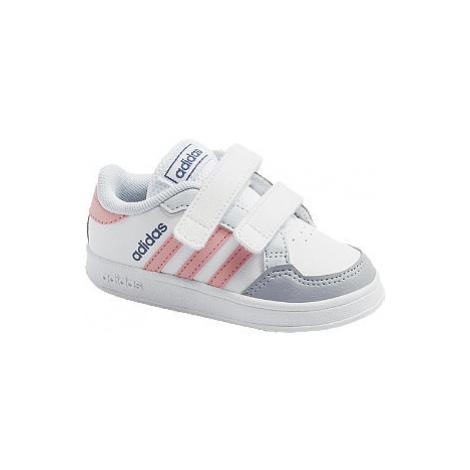 Bílé dětské tenisky na suchý zip adidas Breaknet I