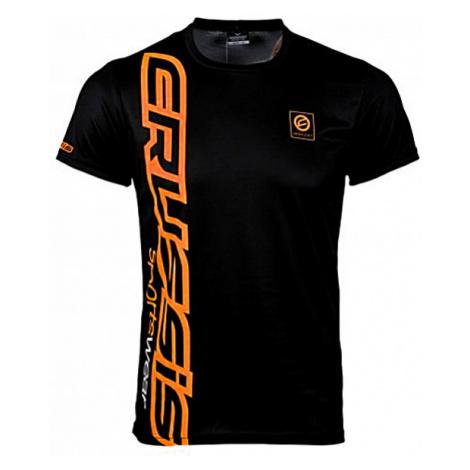 Pánské triko krátkým rukávem CRUSSIS černo-oranžová
