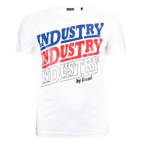 Pánské bílé tričko Diesel Industry