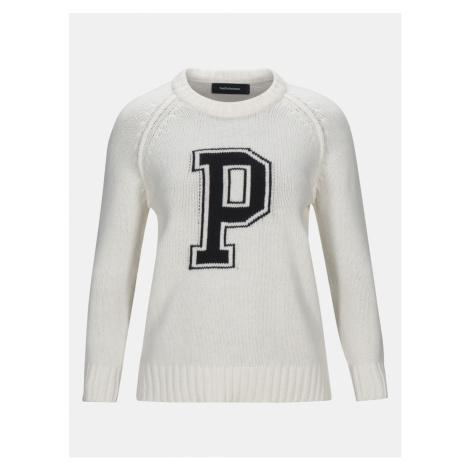 Svetr Peak Performance W Millie C Pullover - Bílá