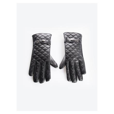 GATE Prošívané rukavice z imitace kůže