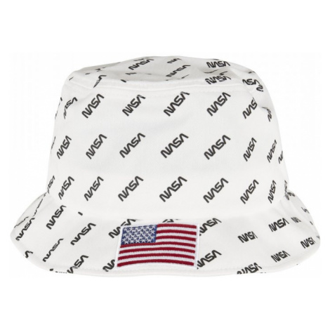 NASA Allover Bucket Hat - white Urban Classics