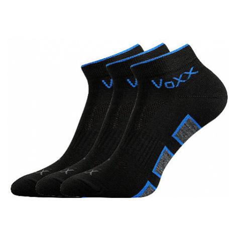 3PACK ponožky Voxx černé (Dukaton silproX) S