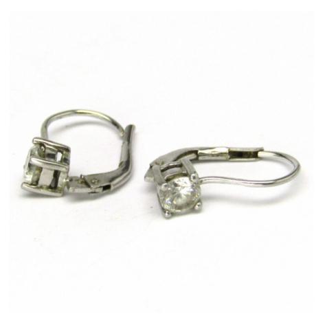 AutorskeSperky.com - Stříbrné naušnice s bílými topazy - S2507