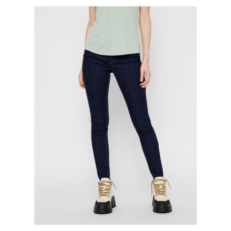 Tmavě modré skinny fit džíny Pieces Delly
