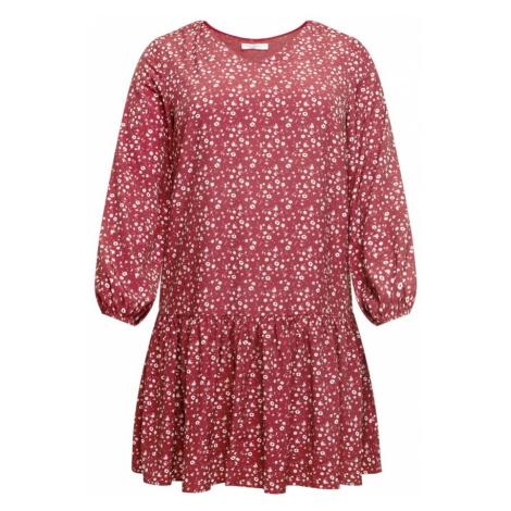 GLAMOROUS CURVE Šaty krvavě červená / bílá