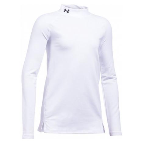 Under Armour ColdGear Mock Dívčí triko 1298840-100 White