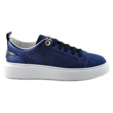 Tenisky La Martina Woman Shoes Suede - Modrá