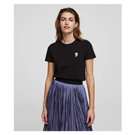 Tričko Karl Lagerfeld Mini Ikonik Karl Patch T-Shirt - Černá