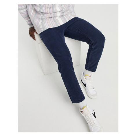 ASOS DESIGN classic rigid corduroy jeans in navy