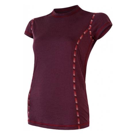 Dámské tričko SENSOR Merino Air vínová