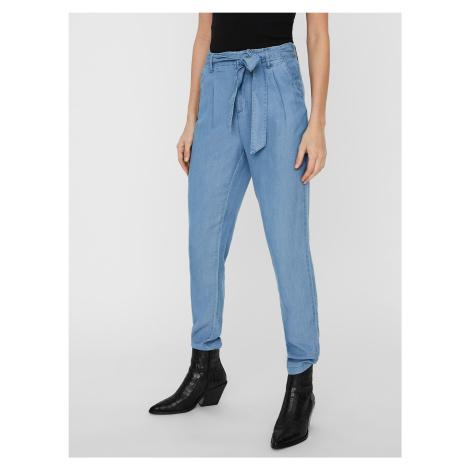 Mia Kalhoty Vero Moda Modrá