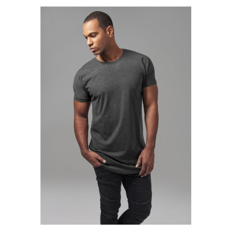 Long Shaped Turnup Tee - charcoal Urban Classics