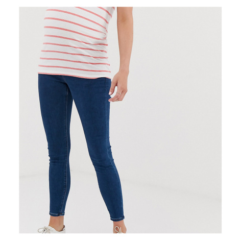 ASOS DESIGN Maternity Ridley high waisted skinny jeans in rich mid blue wash with under the bump