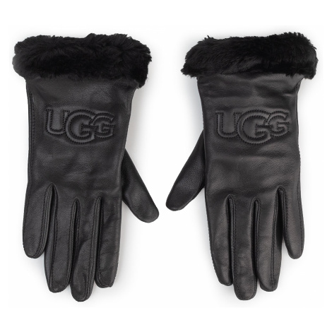 Ugg W Classic Leather Logo Glove 19034
