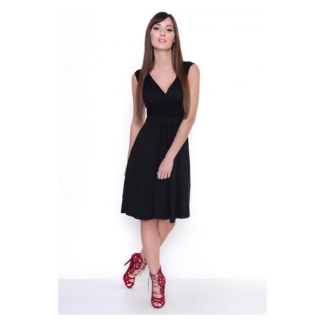Delší vycházkové šaty bez rukávů barva černá Oxyd