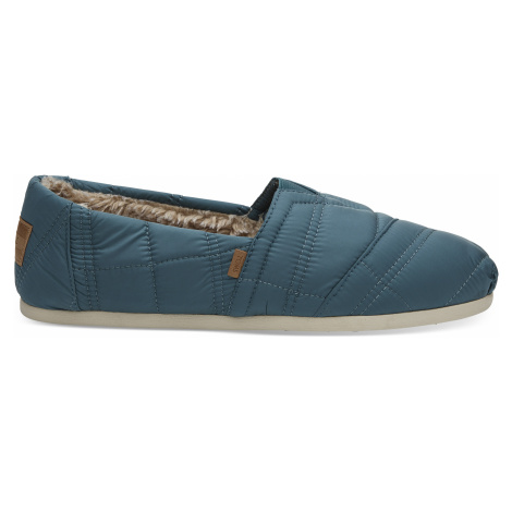 Stellar Blue Quilted Nylon Venice Collection Men Alpargata Toms
