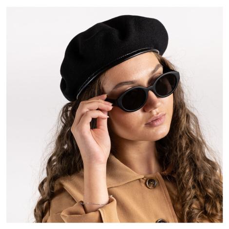 Černý vlněný baret Monty Wool Beret Kangol