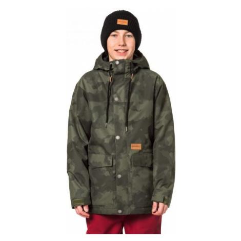 Horsefeathers LANC KIDS JACKET tmavě zelená - Chlapecká lyžařská/snowboardová bunda