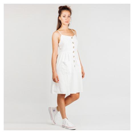 Bílé šaty na knoflíky NA-KD