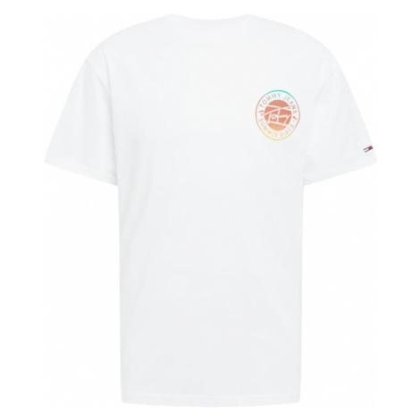 Tommy Jeans Tričko bílá / tyrkysová / oranžová / červená Tommy Hilfiger