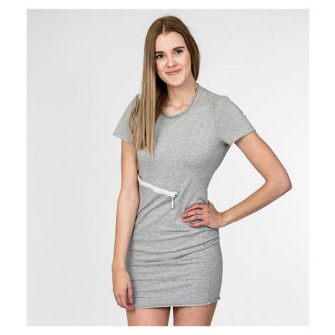 Šedé elastické šaty - MET JAENS