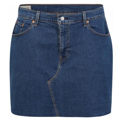 Levi's® Plus Sukně 'DECONSTRUCTED' modrá džínovina