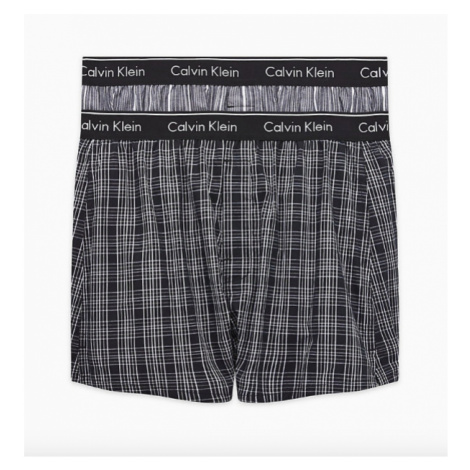Calvin Klein 2Pack Trenky Slim Fit Černé