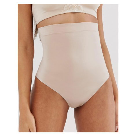Spanx Suit Your Fancy high waist shaping thong in champagne beige