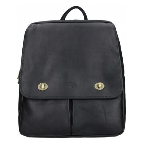 Elegantní dámský kožený batoh Katana Petra - černá