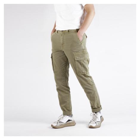 Olivové kalhoty Cargo Selected