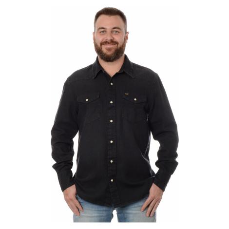 Džínová košile Wrangler 27MW pánská černá