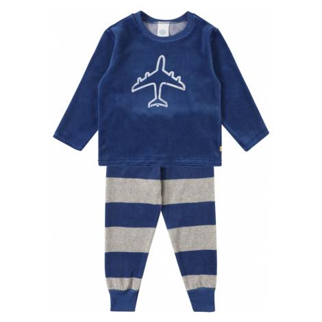 SANETTA Pyžamo modrá / bílá / béžová Sanetta Kidswear