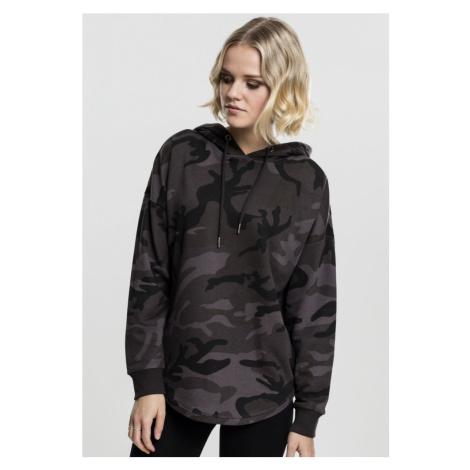 Ladies Oversized Camo Hoody - dark camouflage