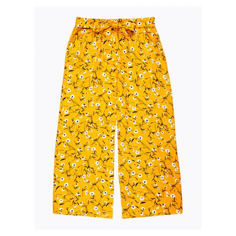 GATE Široké kalhoty s květinovým potiskem