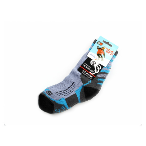 funkční ponožky Winter merino wool modré s modrou