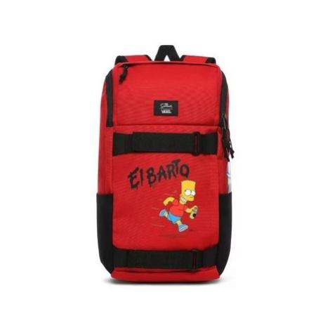 Vans The Simpsons X Obstacle EL Barto Skatepack Červená