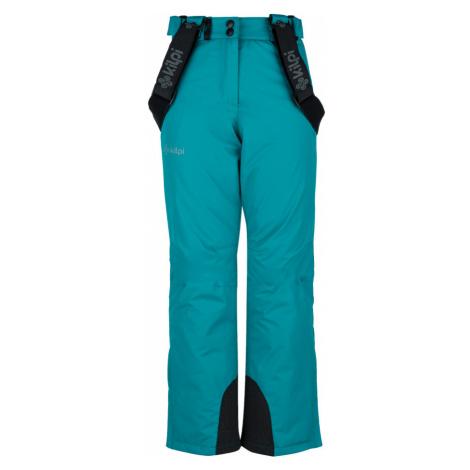 KILPI Dívčí lyžařské kalhoty ELARE-JG JJ0023KITRQ Tyrkysová