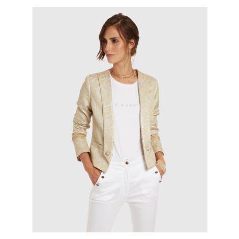 Sako La Martina Woman Jacket Cotton Linen Jacq - Bílá