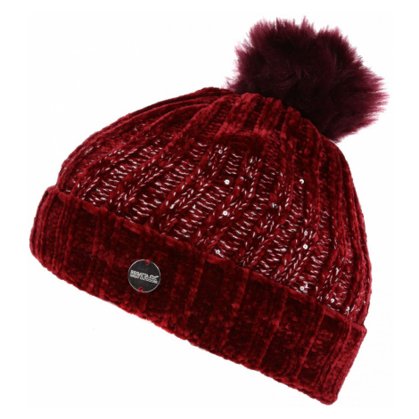 Zimní čepice Regatta Lorelai Hat Obvod hlavy: univerzální cm / Barva: vínová