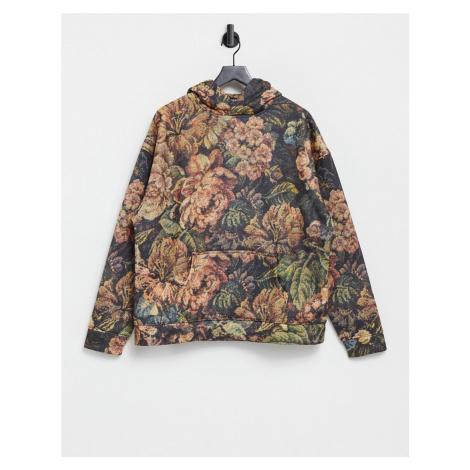 Jaded London co-ord vintage floral printed hoodie-Multi