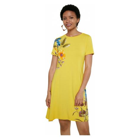 Desigual žluté šaty Vest Las Vegas - XS
