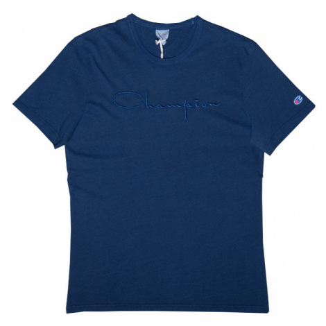 Champion Crewneck T-Shirt modré 213088-BV501-INDI