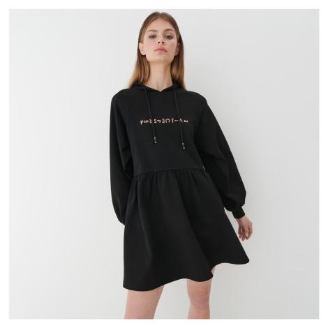 Mohito - Teplákové šaty s kapucí - Černý