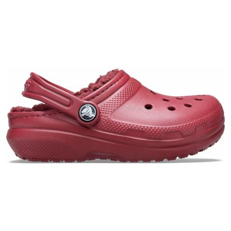 Crocs Classic Lined Clog K Brick Red C4