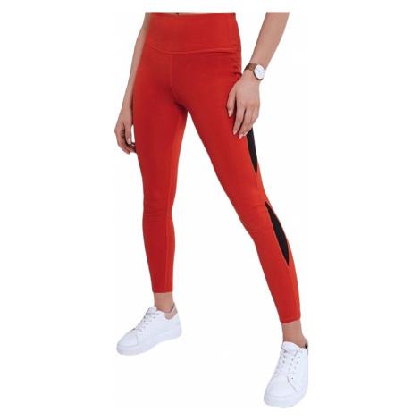 červené dámské sportovní legíny