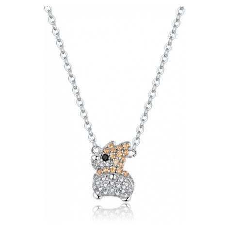Linda's Jewelry Stříbrný náhrdelník Glamour Králíček Ag 925/1000 INH086
